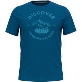 Odlo Nikko Print T-Shirt S / S Crew Neck Herrer, blå